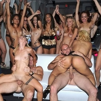 orgy parties porn Most  men would jump at an orgy, so it'd be better if the girls did that .